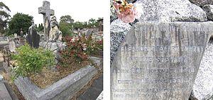 Nellie Stewart - Stewart family grave and Nellie Stewart memorial, Boroondara General Cemetery, Kew, Melbourne