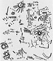 Neolithic representation of solar symbols, Spain. Wellcome M0015071.jpg