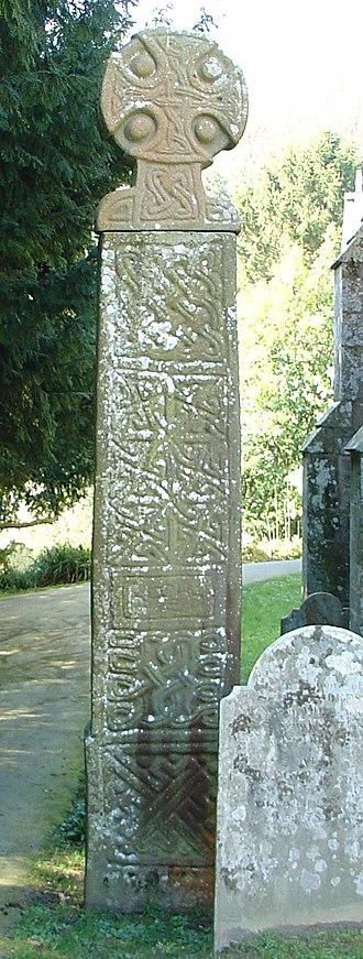 Gowk stane - Saint Brynach's cross in Nevern, Wales.