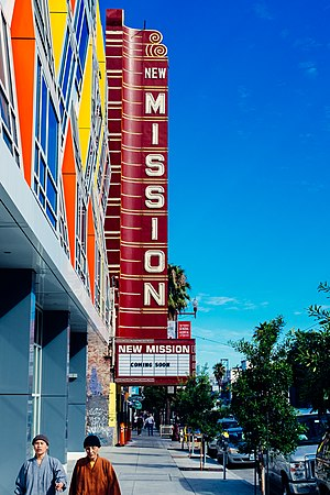 New Mission Theater, San Francisco - Image: New Mission Theater 2015