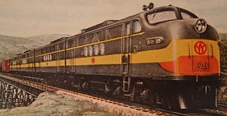 New York, Ontario and Western Railway - A pocket calendar image of a New York, Ontario and Western Railway diesel locomotives built for freight service in 1947