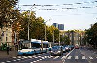 New and old trolley bus in Tallinn.jpg