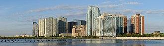 Newport, Jersey City - View of Newport from Hoboken (2015)