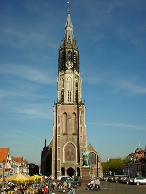 Galileo's Leaning Tower of Pisa experiment - The Nieuwe Kerk in Delft, where the experiment took place