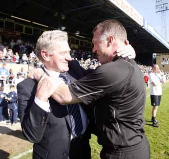 Leicester City F.C. - Pearson and Mandarić after winning the Football League One title.
