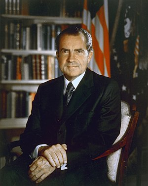 Nixon's Enemies List - President Richard Nixon's Official Presidential Photograph, taken in 1971