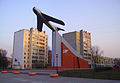 Nizhny Novgorod MiG-17 Monument at Chernyakhovsky St.jpg