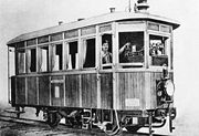 An early steam railcar for the narrow gauge Niederösterreichische Landesbahn, built by Komarek of Vienna in 1903. Works photograph