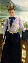 Portrait of writer Natalia Borisovna Nordman-Severova