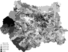 Noreligion West Yorkshire 2011 census.png