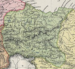 Noricum térképe (Atlas of Ancient and Classical Geography, 1907)