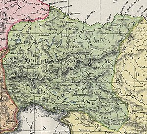 Noreia - Roman province of Noricum, 1907 map