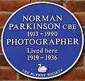 NormanParkinsonBluePlaque, 32 Landford Road, Putney.jpg