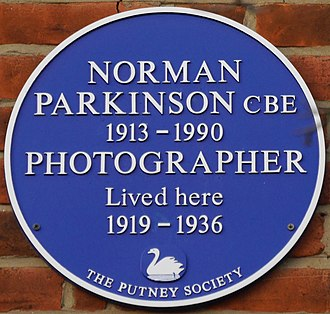 Norman Parkinson - Blue plaque, 32 Landford Road