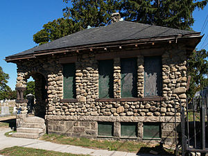 North Burial Ground (Fall River, Massachusetts) - Image: North Burial Ground Gatehouse