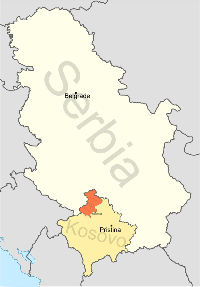 Partition of kosovo wikiwand map of north kosovo in orange showing the divided city of kosovska mitrovica gumiabroncs Image collections