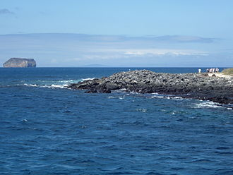 Galápagos Islands - North Seymour Island in the Galápagos; Daphne Island is in the distance.