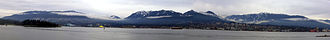 North Shore Mountains - A panorama view of the mountains
