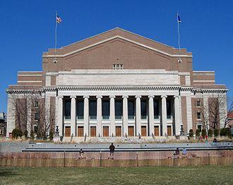 Northrop Auditorium - Northrop as seen from Northrop Mall