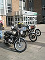 Nostalgia inducing motorbikes awaiting the start of the 2009 Havant Mayor's Rally (5) - geograph.org.uk - 1259814.jpg