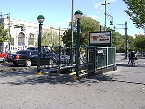 Nostrand Avenue (IRT Eastern Parkway Line) - Image: Nostrand Avenue Eastern Parkway
