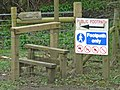 Notice on the footpath to Ebchester - geograph.org.uk - 762498.jpg