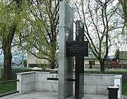 Památník obětem z Českého Malína nacházející se v Novém Malíně