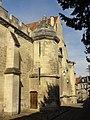 Noyon (60), cathédrale Notre-Dame, mur nord-est du cloître et réfectoire du chapitre, pignon côté nord-est.jpg
