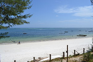 Nyali Beach from the Reef Hotel during high tide in Mombasa, Kenya 8.jpg