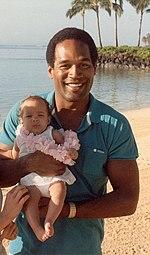 Simpson ze swoją córką, Sydney, 1986.