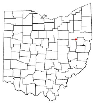 Magnolia, Ohio - Image: OH Map doton Magnolia