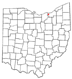 Location of North Olmsted in Ohio