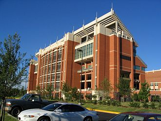 University of Oklahoma - Memorial Stadium houses University of Oklahoma football games, as well as the campus bookstore.