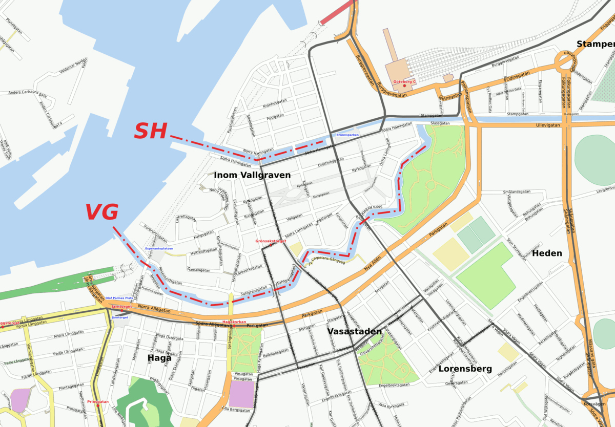 karta över göteborg innerstad Göteborgs kanaler – Wikipedia karta över göteborg innerstad