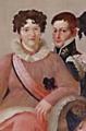 O Feliz Regresso de Sua Majestade Fidelíssima (1825) - D. Carlota Joaquina e D. Miguel.png