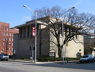 Oak Park, Illinois - Unity Temple, designed by Frank Lloyd Wright in 1905 and finished in 1908
