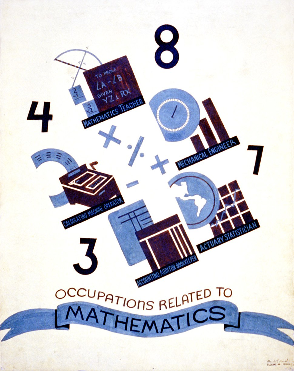 Occupations related to mathematics, WPA poster, ca. 1938