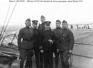 John W. Wilcox Jr. - Image: Officers aboard USS Von Steuben March 1919