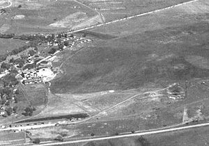 Offutt Air Force Base - Offutt Field in October 1936, before the construction of hard runways and permanent facilities