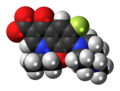 Ofloxacin zwitterion spacefill.png