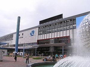 Okayama station east entrance 2007.9