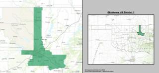Oklahomas 1st congressional district U.S. House district centered on Tulsa, OK