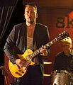 Ola Gustafsson on guitar, Kent Sundvall on drums, Luleå All Star Blues Band, 2012-05-26.jpg