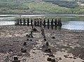 Old Arrochar Pier, Loch Long, Argyll and Bute, Scotlland. Pier support remnants, etc.jpg