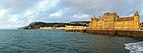 Old College Aberystwyth and Royal Pier at dawn. Aberystwyth, Wales, UK.jpg