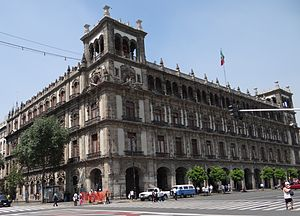 """Federal District buildings - The 1910–1930 remodeled Palacio or """"old"""" Federal District building"""
