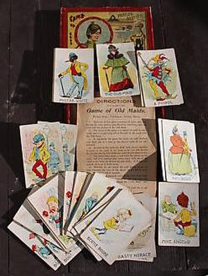 Old maid (card game) - Deck of 19th-century cards