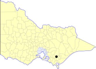 City of Moe - Location in Victoria