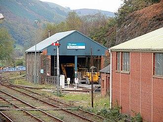 Machynlleth railway station - The former locomotive shed at Machynlleth station