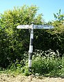 Old signpost south of Knightcote - geograph.org.uk - 1521660.jpg